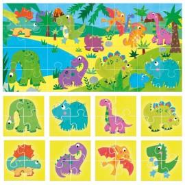 Puzzle 8+1 Dinosaurs